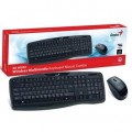Teclado Wireless Genius c/mouse KB-8000X Preto